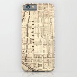 Vintage Map of Georgetown (Washington D.C.) 1876 iPhone Case