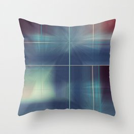 Distresed Denim Abstract Line Design Throw Pillow