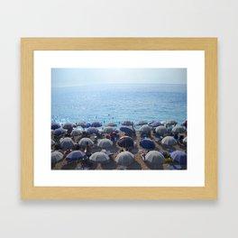 Beach. Ionian Sea. Greek Islands. Framed Art Print