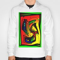 frames Hoodies featuring Mysterious frames II by Horacio Moschini