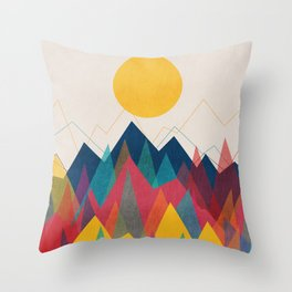 Uphill Battle Throw Pillow