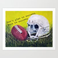 football Art Prints featuring Football by A Calcines