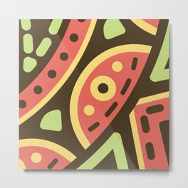 Abstract Sweets Composition Pattern Metal Print