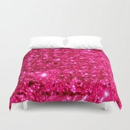 SparklE Hot Pink Duvet Cover