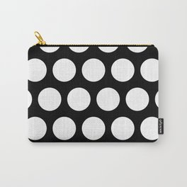 Big polka dots on black Carry-All Pouch
