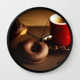 Fresh Donuts for coffee Wall Clock