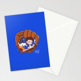 Chibi Baseball Mets Dylan O'Brien Stationery Cards
