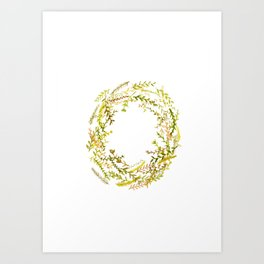 Autumn wreath Art Print