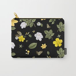 Yellow Flowers & White Roses 2 Carry-All Pouch