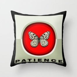 Fruit of the Spirit, Patience (Red & Ecru) Throw Pillow