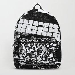 Terrazzo Pattern Black & White #1 #texture #decor #art #society6 Backpack