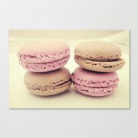 macaroons Canvas Prints featuring macaroons by  Alexia Miles photography