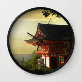 Over the sea Wall Clock