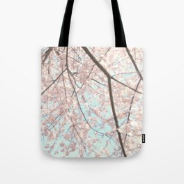 Vintage pink tree Tote Bag