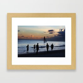 Cricket in Barbados  Framed Art Print