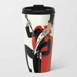 "Art Deco Illustration ""White Tie"" by Erté Travel Mug"