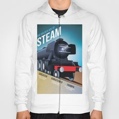 THE GOLDEN AGE OF STEAM VINTAGE POSTER Hoody