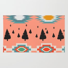 Winter pattern  with cats and flowers Rug