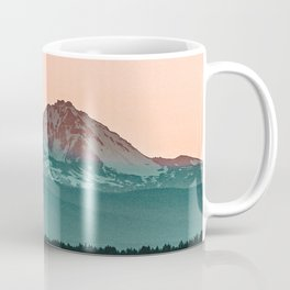 Grainy Sunset Mountain View // Textured Landscape Photograph of the Beautiful Orange and Blue Skies Coffee Mug