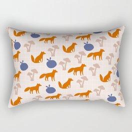 Cute Fox and Mushrooms Rectangular Pillow