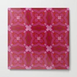 ornament red pink Metal Print
