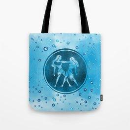Gemini Zodiac Sign Air Element Tote Bag