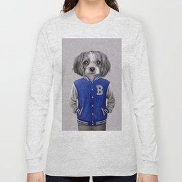 dog boy portrait Long Sleeve T-shirt