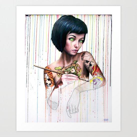 Off-color Clara Art Print