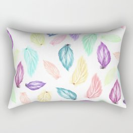 Modern colorful boho watercolor feathers hand painted pattern Rectangular Pillow