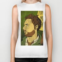 watchmen Biker Tanks featuring It's Always Sunny in Watchmen - Charlie by Jessica On Paper