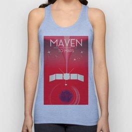 MAVEN - to Mars space art. Unisex Tank Top