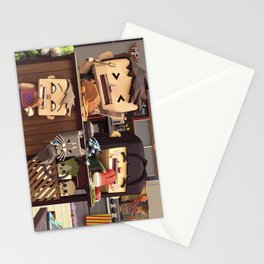 Family cooking Stationery Cards