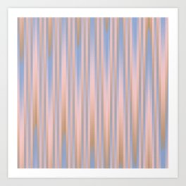Iced Coffee Serenity Rose Quartz Pattern 2 Art Print