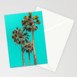Palm Spring Trees, Breezy Palm, California Laguna Beach, Sunny California Palm Tree Leaves Stationery Cards
