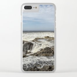Thor's Well, No. 2 Clear iPhone Case
