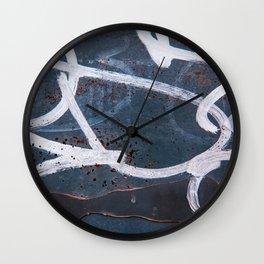 Graffiti Textures Wall Clock