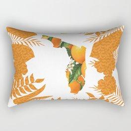 Florida Orange Blossom Wreath Rectangular Pillow