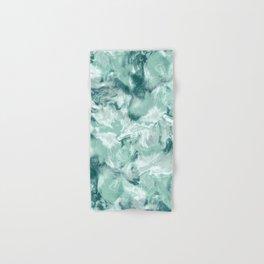 Marble Mist Green Grey Hand & Bath Towel