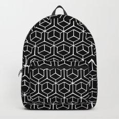 Hand Drawn Hypercube Black Backpack