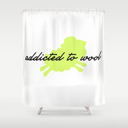Addicted to Wool - Lime Shower Curtain
