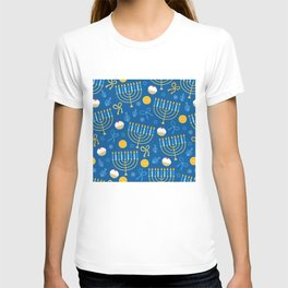 Hanukkah Menorah Pattern T-shirt