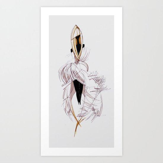 BIRD PRINCESS Art Print