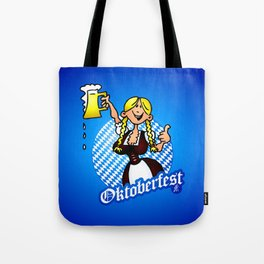 Oktoberfest - girl in a dirndl Tote Bag