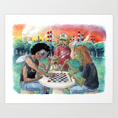 Mutant League Checkers Art Print
