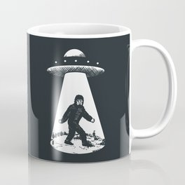 Bigfoot abducted by UFO Coffee Mug