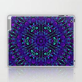 Cyan, Blue, and Purple Kaleidoscope 2 Laptop & iPad Skin