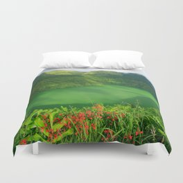 Lake in Azores Duvet Cover