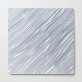 The silver sea - Simple light blue pattern Metal Print