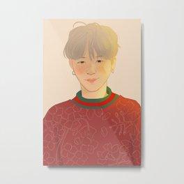 yoongi young forever print Metal Print