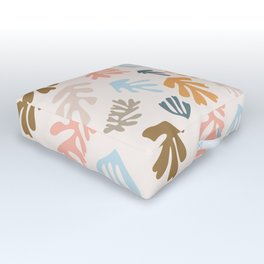 Seaweeds and sand Outdoor Floor Cushion